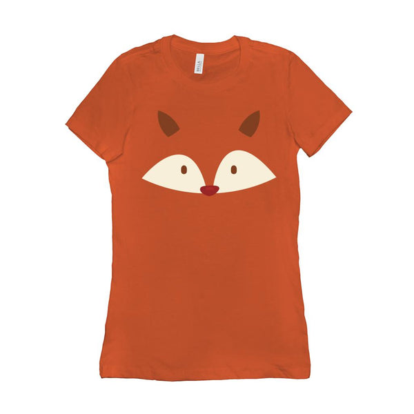 (Women's BC 6004 Soft Tee) Transparent Fox Face Graphic T-Shirt Tee BOXELS