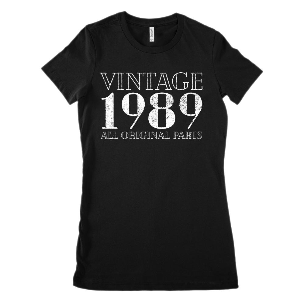(Women's BC 6004 Soft Tee) Vintage All Original Parts 1989 - Made in Year