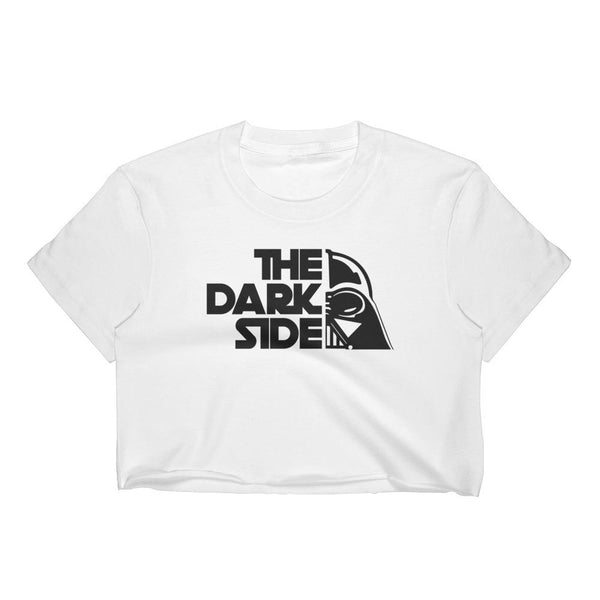 (Women's Crop Top) The Dark Side Funny Pun Of Wars in the Stars Graphic T-Shirt Tee BOXELS