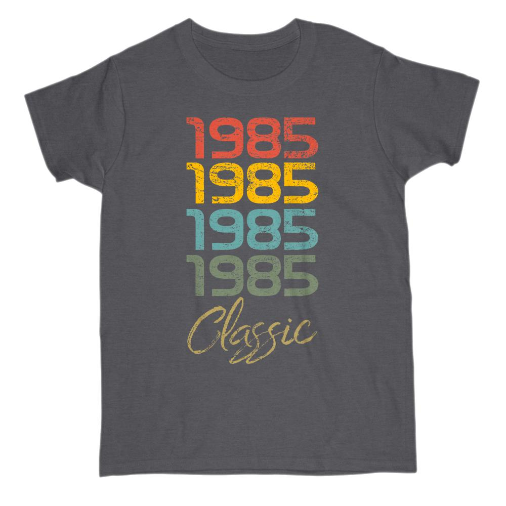 (Women's Gildan Cotton Tee) 4 Year Classic 1985 - Made in the Year Graphic T-Shirt Tee BOXELS