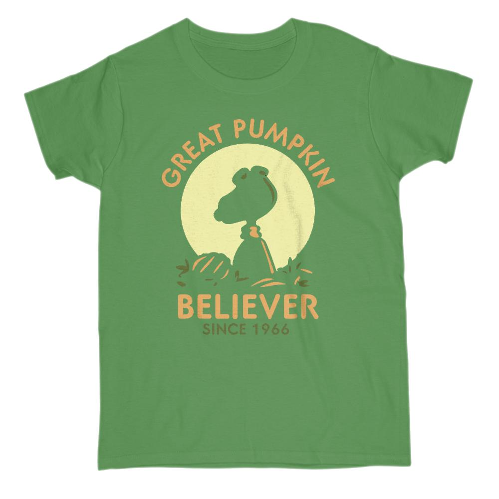 (Women's Gildan Cotton Tee) Great Pumpkin Believer Since 1966 Silhouette Graphic T-Shirt Tee BOXELS