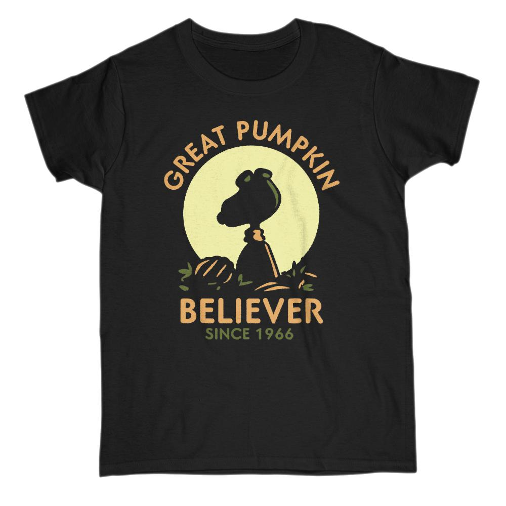 (Women's Gildan Cotton Tee) Great Pumpkin Believer Since 1966 Silhouette