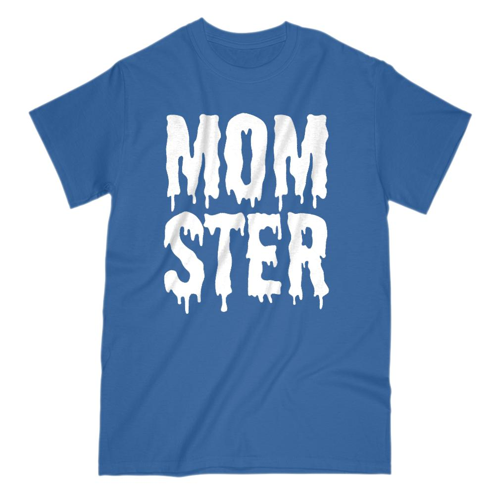 (Women's Gildan Cotton Tee) Momster (mom monster) White Shlop Font Graphic T-Shirt Tee BOXELS