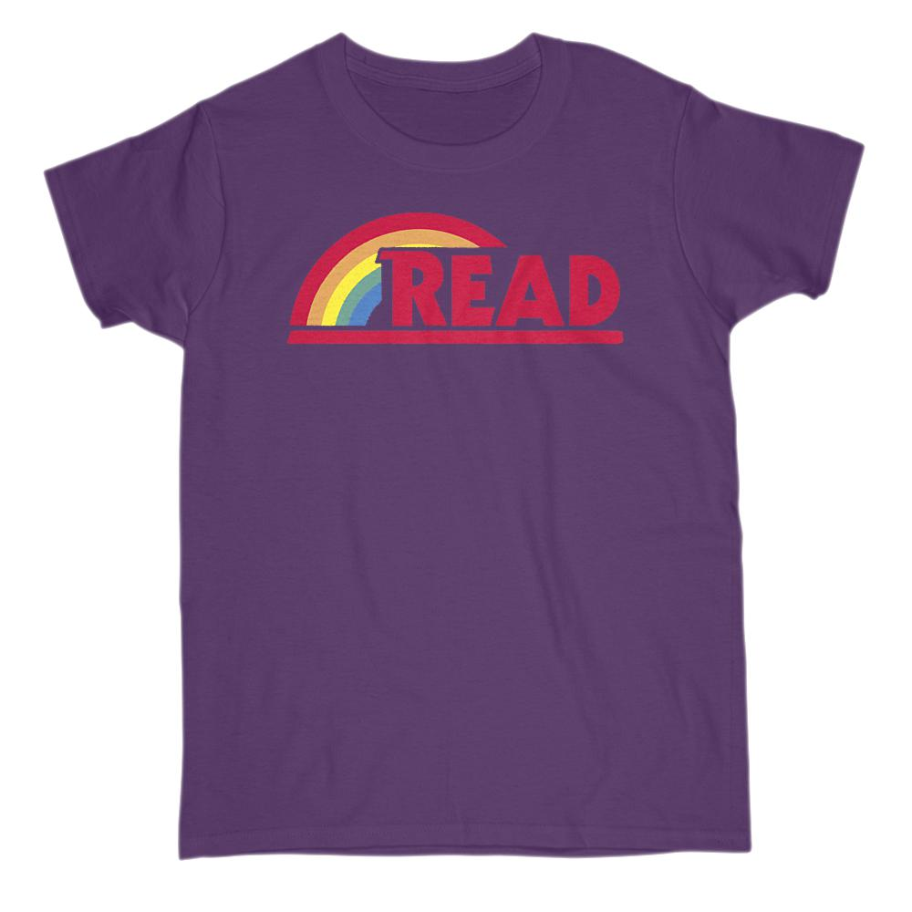 (Women's Gildan Cotton Tee) Reading Rainbow Teacher Teach Graphic T-Shirt Tee BOXELS