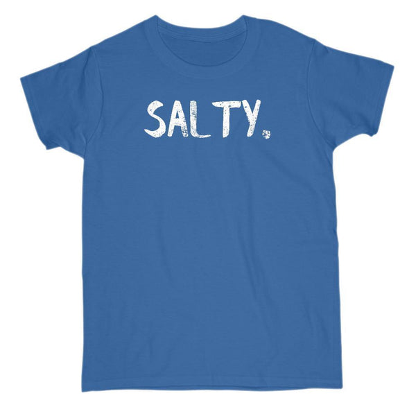(Women's Gildan Cotton Tee) Salty. Graphic Saying Graphic T-Shirt Tee BOXELS