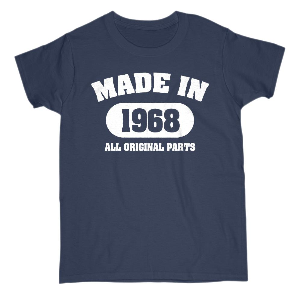 (Women's Gildan Cotton Tee) Vintage All Original Parts 1968 Shape - Made in Year Graphic T-Shirt Tee BOXELS