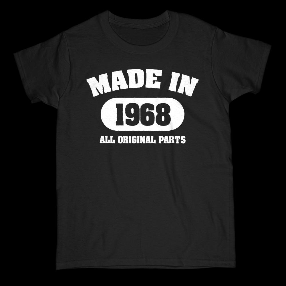 (Women's Gildan Cotton Tee) Vintage All Original Parts 1968 Shape - Made in Year
