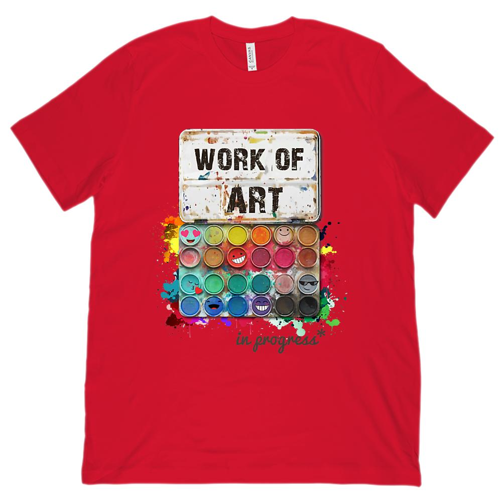 Work of Art in Progress (Unisex BC 3001 Soft Tee) Graphic T-Shirt Tee BOXELS