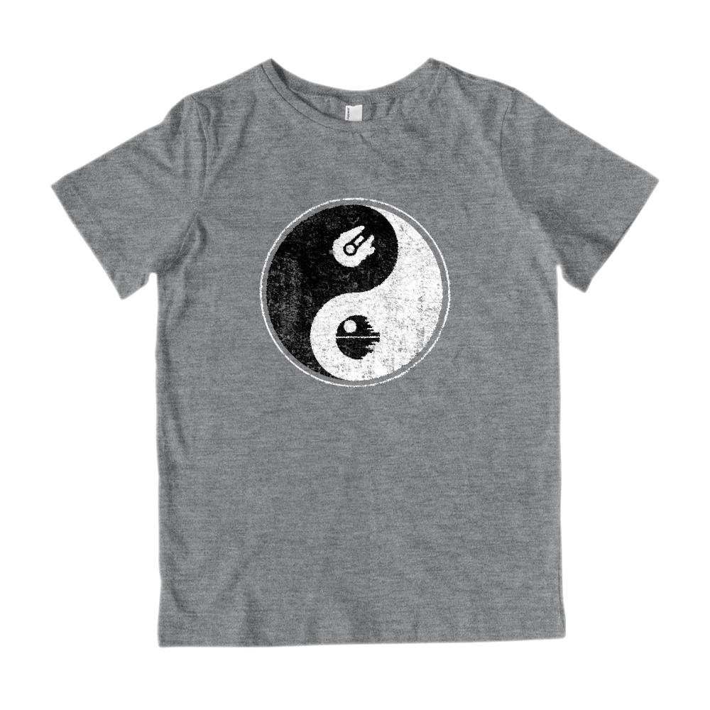Yin Yang Space Falcon Ship (kids) Peace Death Irony Parody Star Tee Graphic T-Shirt Tee BOXELS