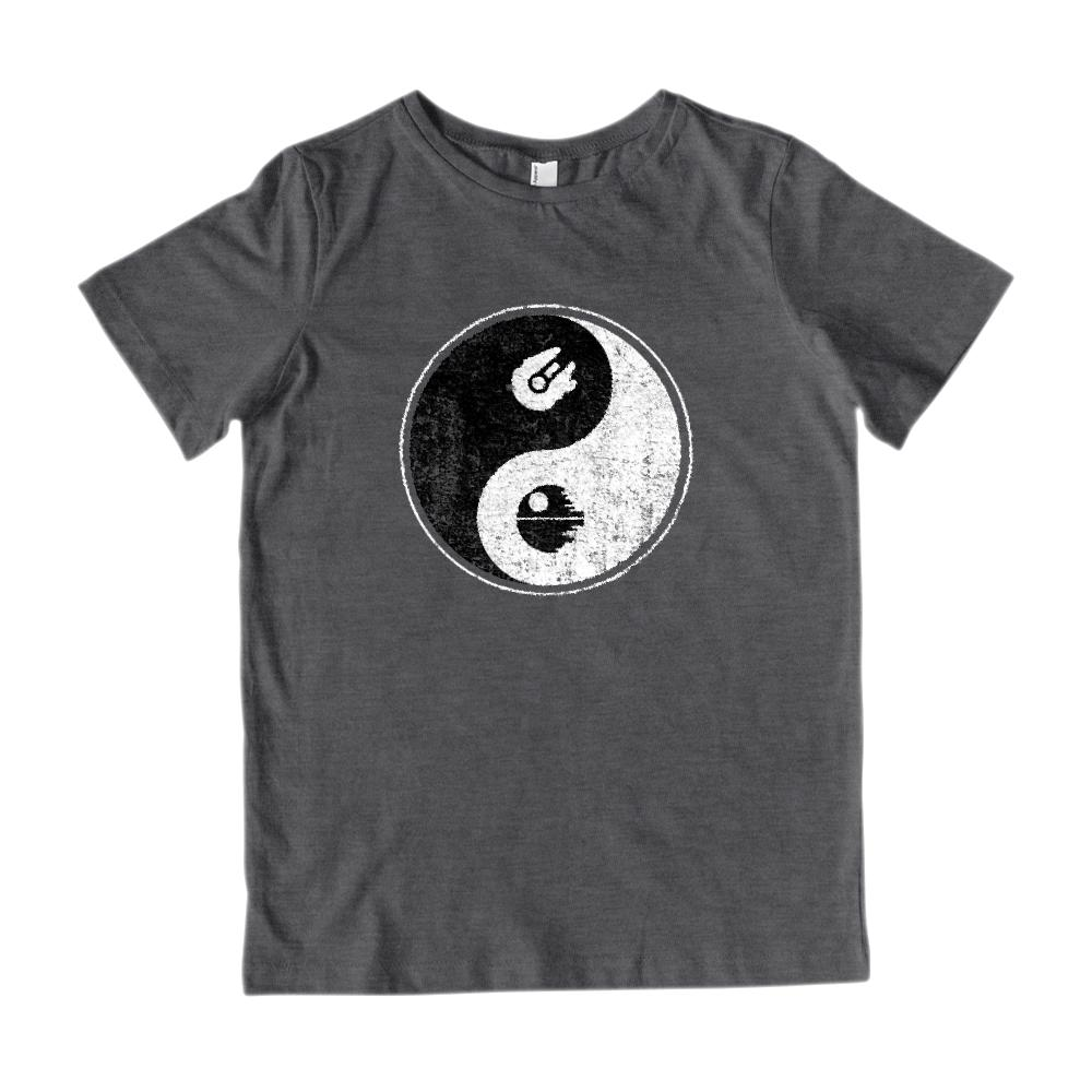 Yin Yang Space Falcon Ship (kids) Peace Death Irony Parody Star Tee