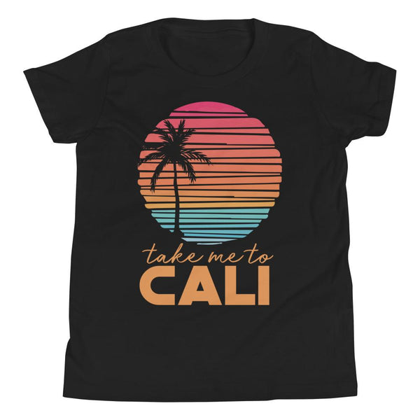 (Youth BC 3001Y Soft Tee) Take Me To California Graphic T-Shirt Tee BOXELS