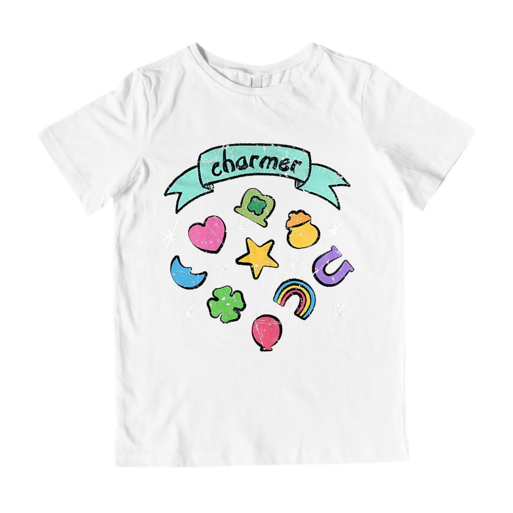 (Youth Cotton Gildan Tee) Charmer Cereal Marshmallow Parody Graphic T-Shirt Tee BOXELS