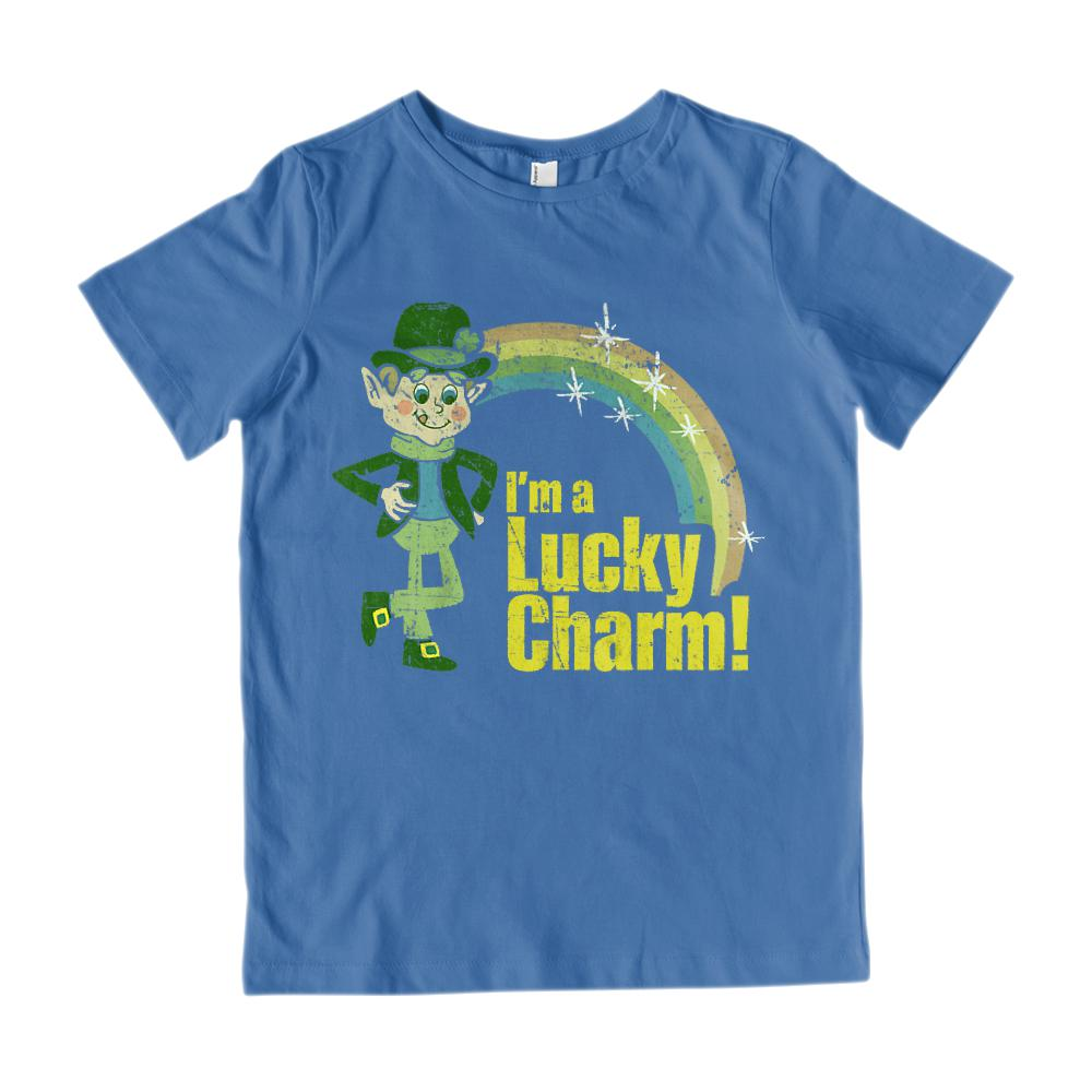 (Youth Cotton Gildan Tee) I'm a Lucky Charm! St. Patrick's Day Holiday Graphic T-Shirt Tee BOXELS