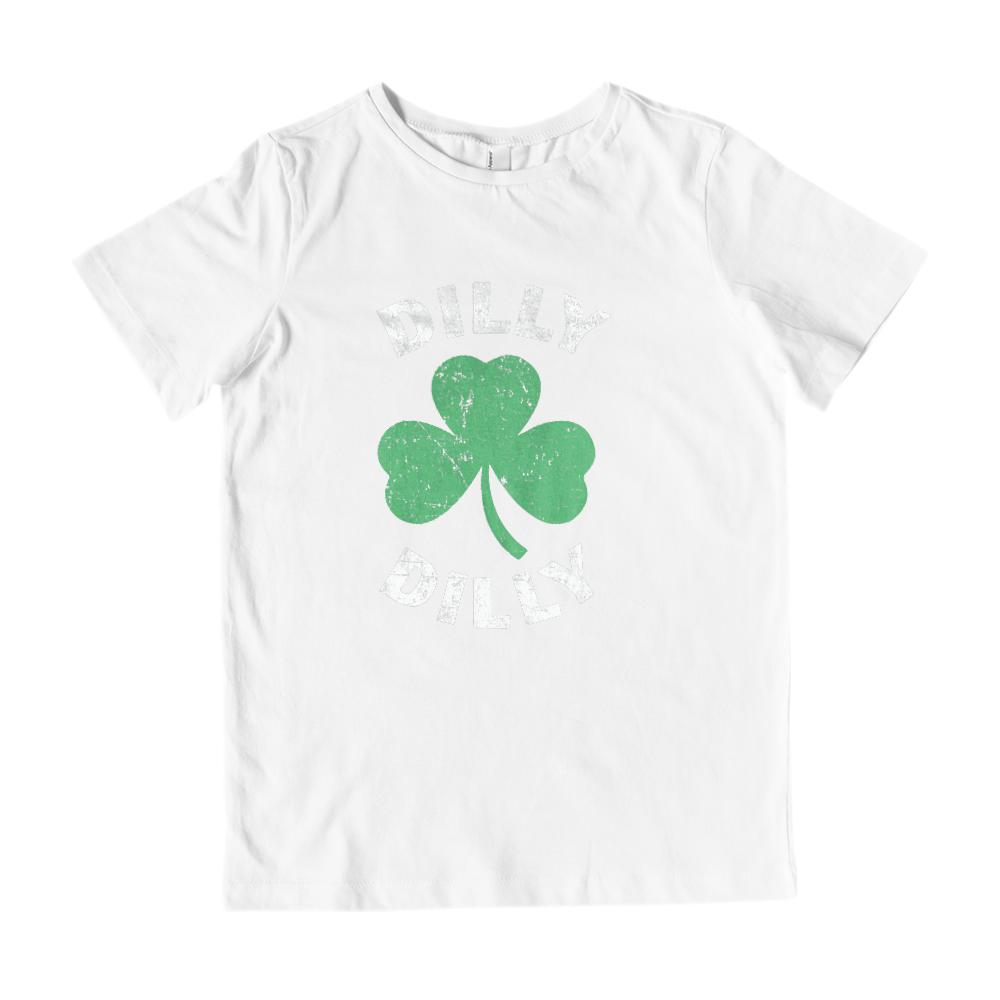 (Youth Gildan Cotton) Dilly Dilly Clover St Patricks Graphic T-Shirt Tee BOXELS