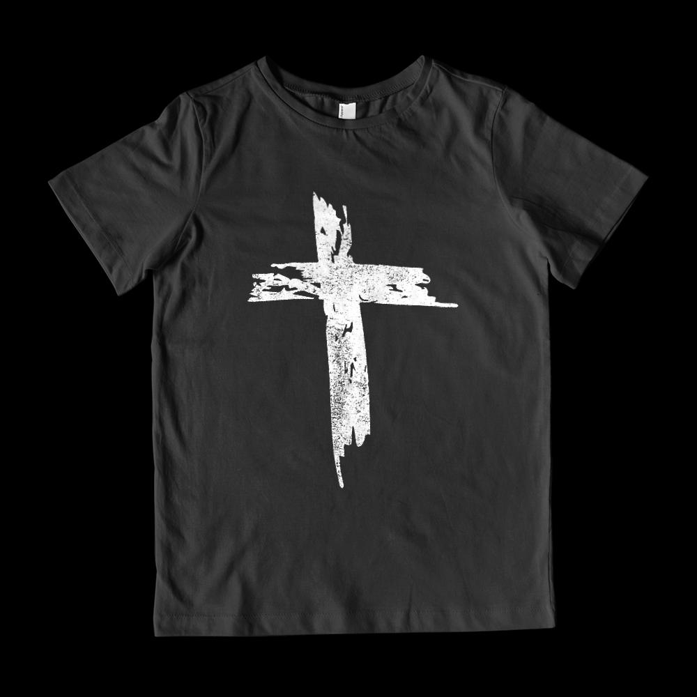 (Youth Gildan Cotton) Grunge Cross