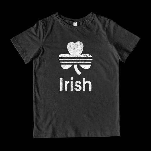 (youth Gildan Cotton) Irish (white) Graphic T-Shirt Tee BOXELS