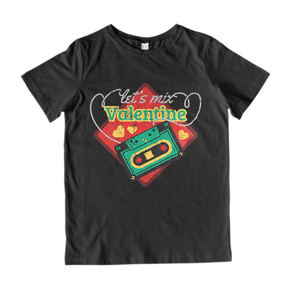 (Youth Gildan Cotton) Let's Mix Valentine Tape Graphic T-Shirt Tee BOXELS