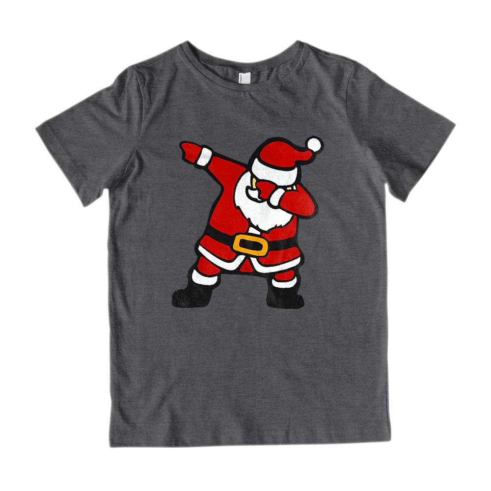 (Youth Gildan Cotton Tee) Dabbing Santa Trending Graphic T-Shirt Tee BOXELS