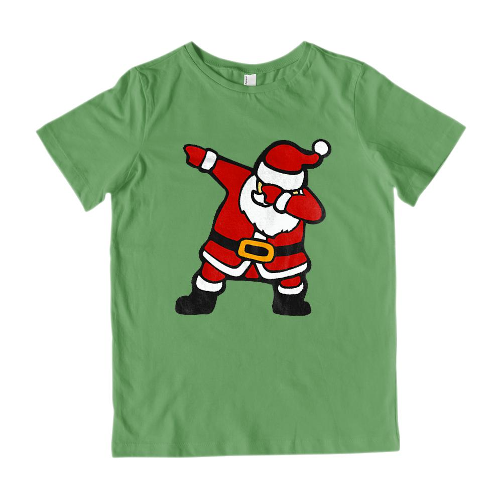 (Youth Gildan Cotton Tee) Dabbing Santa Trending