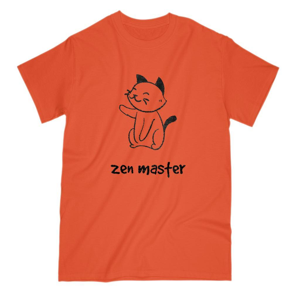 Zen Master - Cat - Power of Presence & Peace Graphic T-Shirt Tee BOXELS