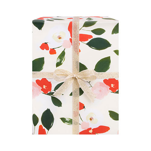 Red & Blush Floral Wrapping Sheets