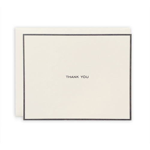 Charcoal Bordered Thank You Card