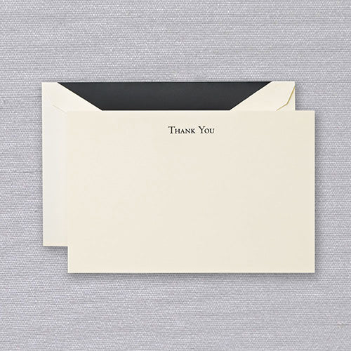 Black Engraved Thank You Cards