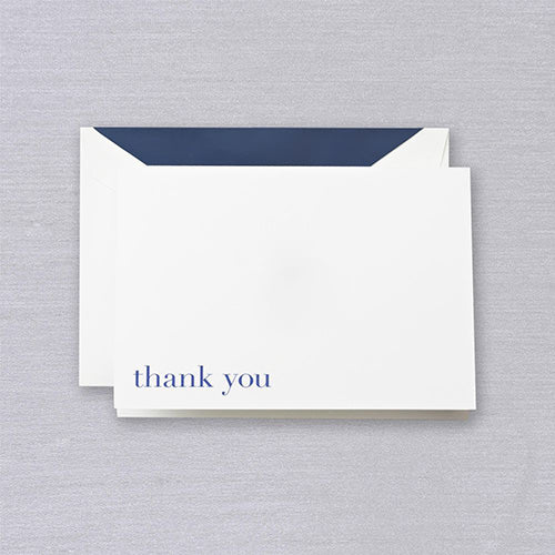 Navy - Pearl White Thank You Notes