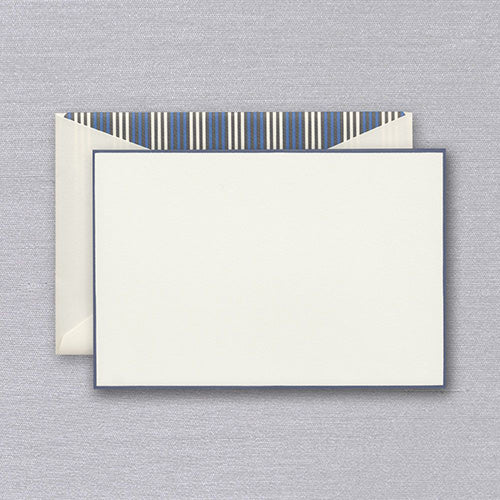 French Blue Bordered Card