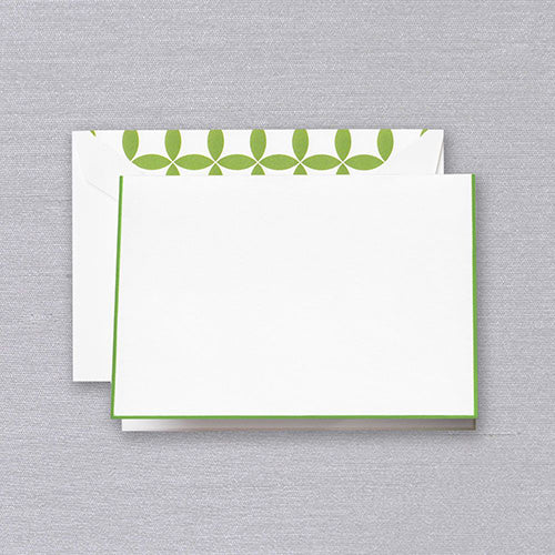 Spring Green Bordered Note