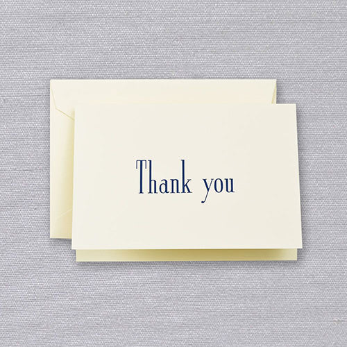 Navy - Ecru Thank You Notes