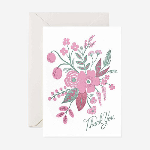Floral Letterpress Thank You Card