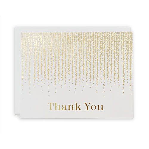 Gold Confetti Thank You Card