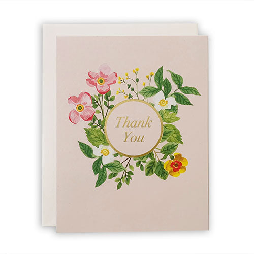 Blush Floral Thank You Card