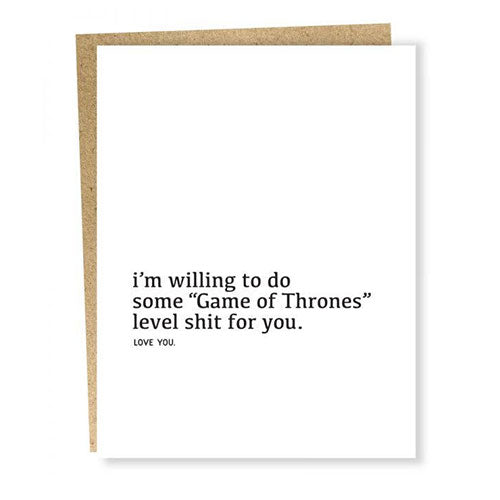 Game of Thrones Love