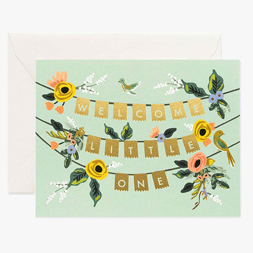 Welcome Baby Banner Card