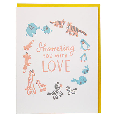 Shower with Love Baby Card