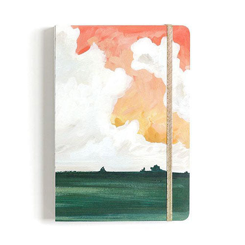 Watercolor Sunset Square Grid Journal