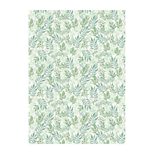 Watercolor Greenery Wrapping Sheets