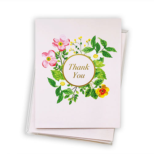 Blush Floral Boxed Thank You Notes