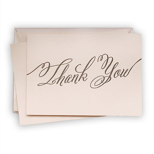 Blush Letterpress Thank You Notes