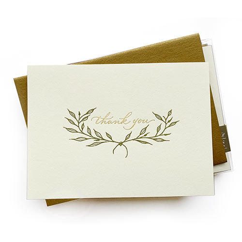Laurel Letterpress Thank You Notes