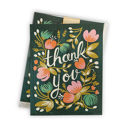 Rifle Floral Thank You Notes