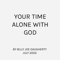 Your Time Alone With God