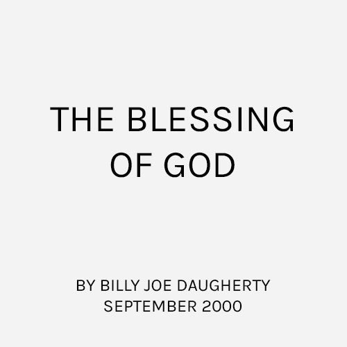 The Blessing of God