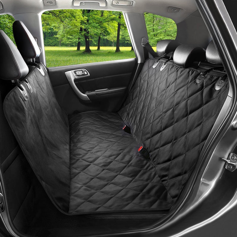 Dog Seat Cover For Cars - Waterproof Nonslip Backing With Seat Anchors, 148cm width X 138cm length. - Hammock Style, Luxury Pet Car Seat Protector