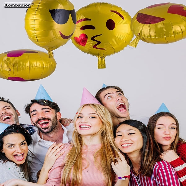 Emoji Party Balloons 25 Pack Party Supplies