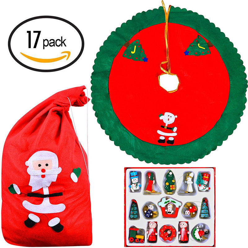17 Piece Christmas Tree Decoration Set