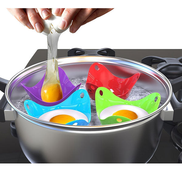 8 Piece Egg Poacher Silicone Set