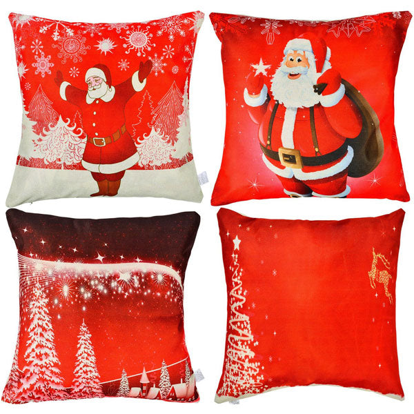 Christmas Pillow Cases 4 Piece Set